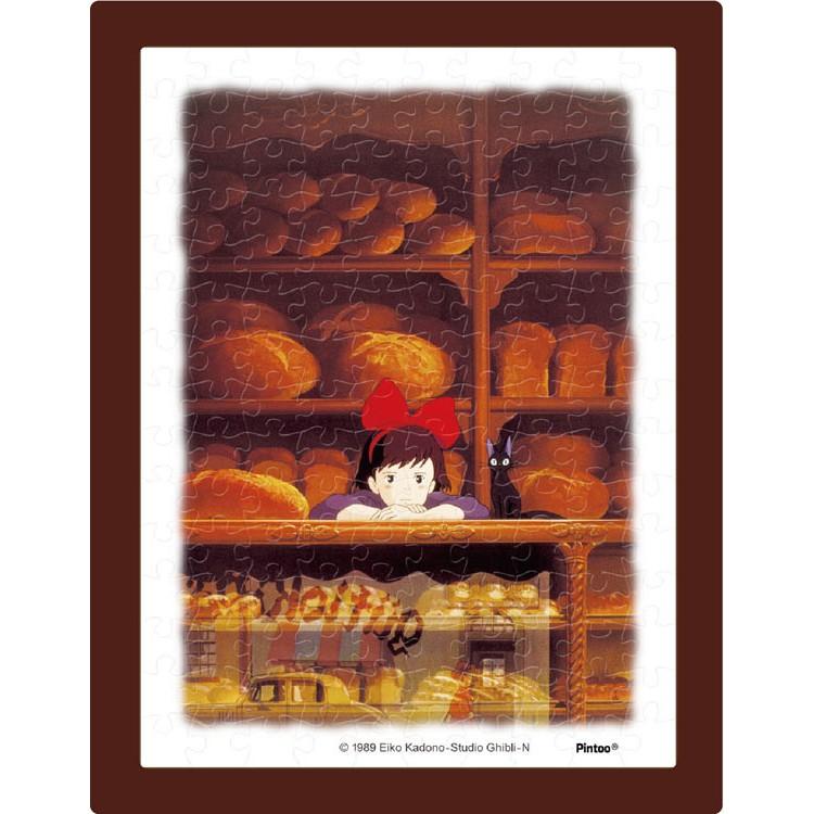 ENSKY  魔女宅急便 櫃台  150P  拼圖總動員  宮崎駿  迷你  附褐色框  日本進口拼圖