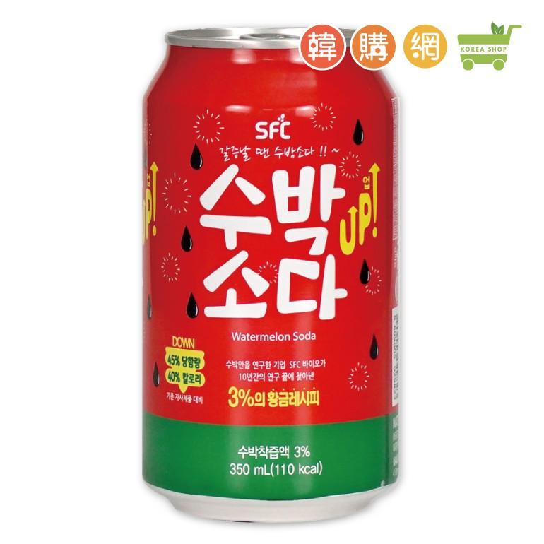 韓國Sangil西瓜風味汽水飲料350ml【韓購網】