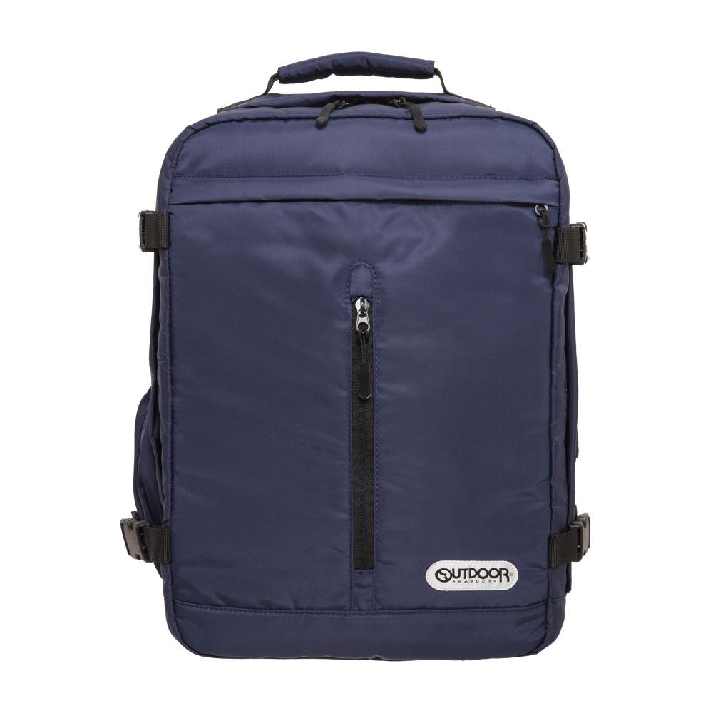 【OUTDOOR】悠遊寰旅-15.6吋筆電後背包-深藍斜紋 OD281102NYN