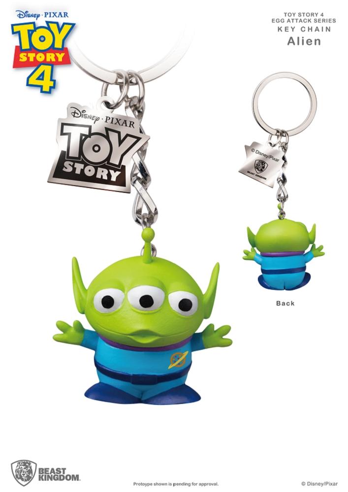 玩具總動員4 蛋擊公仔鑰匙圈系列 三眼外星人款