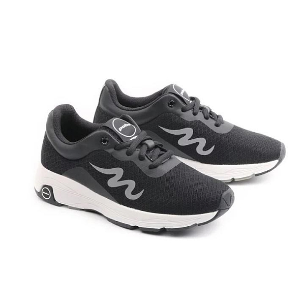 【南紡購物中心】【PUHU彪琥】透氣網布輕量運動鞋-男款黑