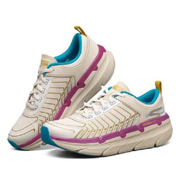 【SKECHERS】跑步系列MAX CUSHIONING PREMIER-128133TPMT-米藍\女-原價3390元