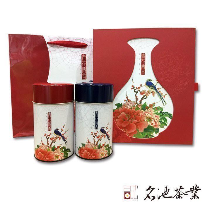 【名池茶業】綜合茶禮阿里山高山茶 五分凍頂烏龍茶(青花傳香款/150克x2)