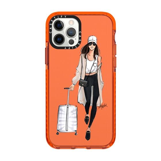 CASETiFY iPhone 12 Pro Impact Case - Jet Setter, Brunette