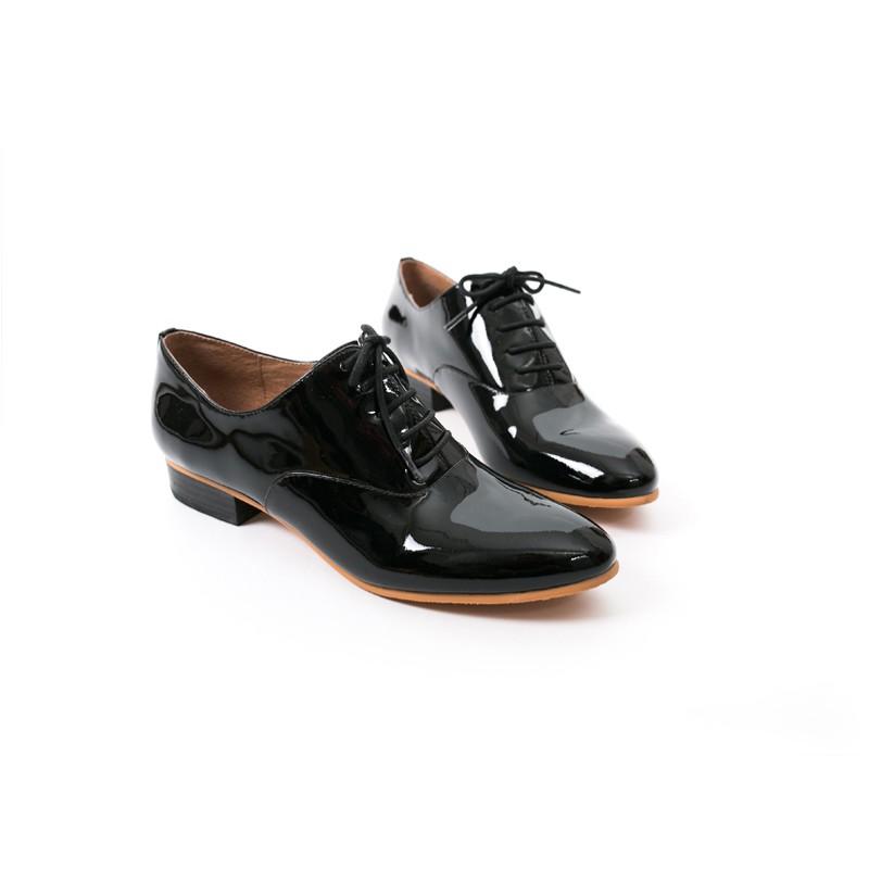 【Lewis Walt 】西班牙鏡面羊皮復古迪斯可牛津鞋