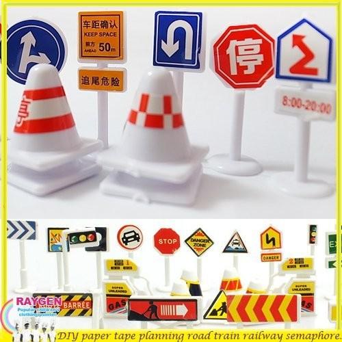 創意 DIY 交通 號誌 指標 可自行搭配道路紙膠帶