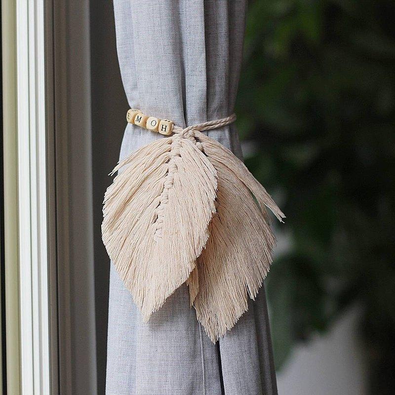 手作樹葉macrame編織字母綁繩