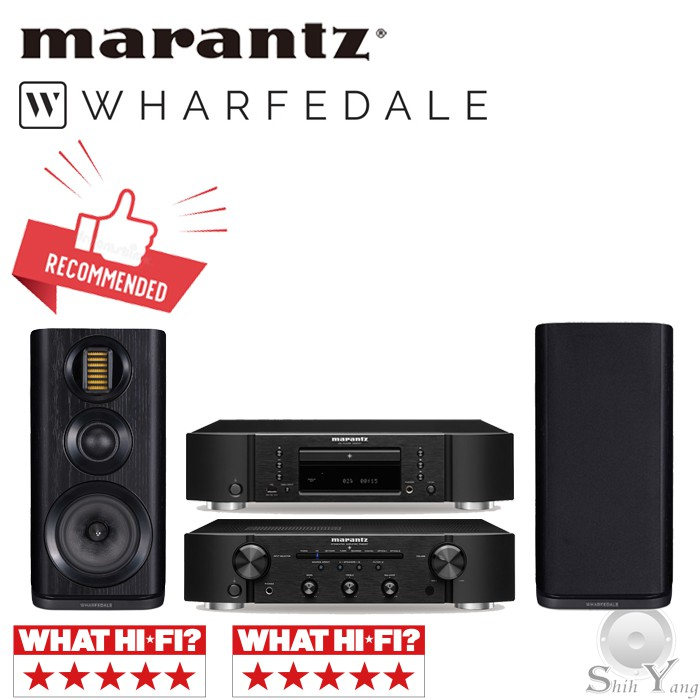 Marantz CD6007 CD播放機 + PM6007綜合擴大機 + Wharfedale EVO 4.2 書架喇叭