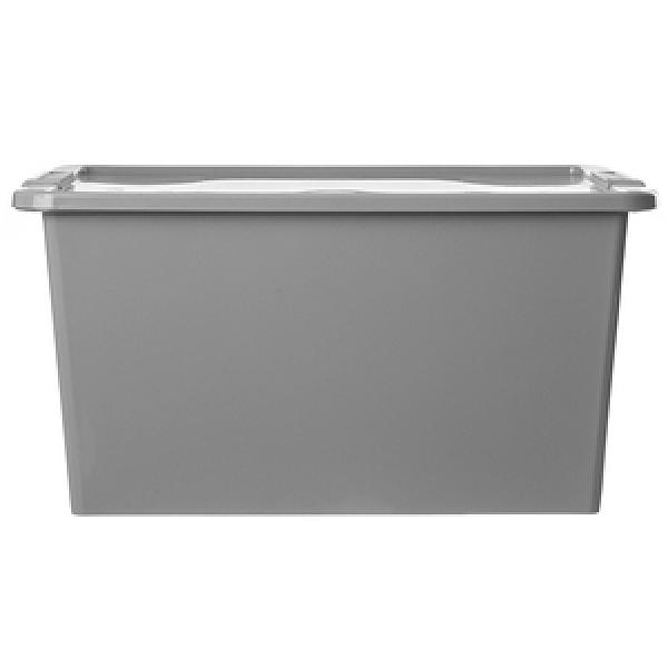義大利品牌 KIS Bi Box系列 收納箱 附蓋 L尺寸 40L 灰色