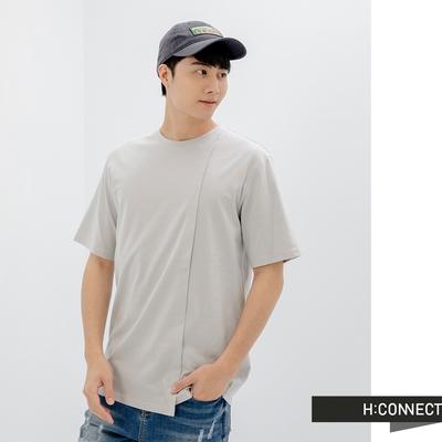 H:CONNECT 韓國品牌 男裝-素色褶痕設計時尚T-shirt