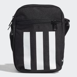 Adidas ESSENTIALS LOGO 肩背包 斜背包 休閒 雙拉鍊 三條線 黑【運動世界】GN1928