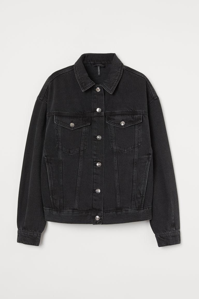 H & M - 丹寧外套 - 黑色