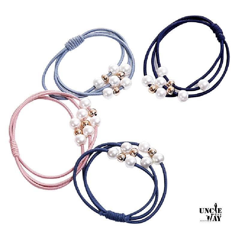韓國簡約珍珠髮圈 髮束 髮圈【P0003】