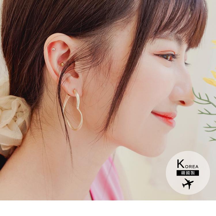 韓國製旋轉愛心耳環