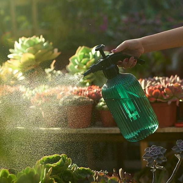 澆花噴壺瓶家用塑料灑水壺氣壓式壓力噴霧消毒室內噴水養花噴水壺 橙子精品