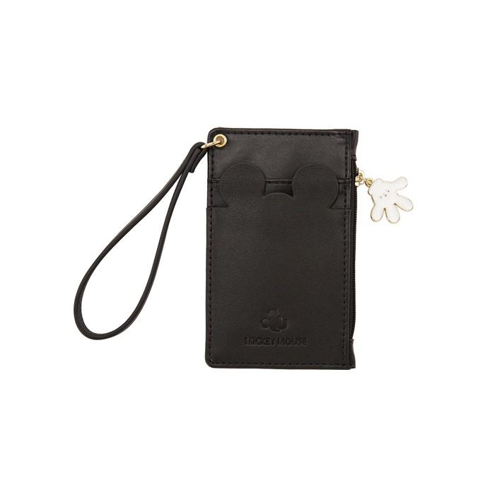 Gracegift by disney collection-米奇吊飾手拿卡夾零錢包 黑
