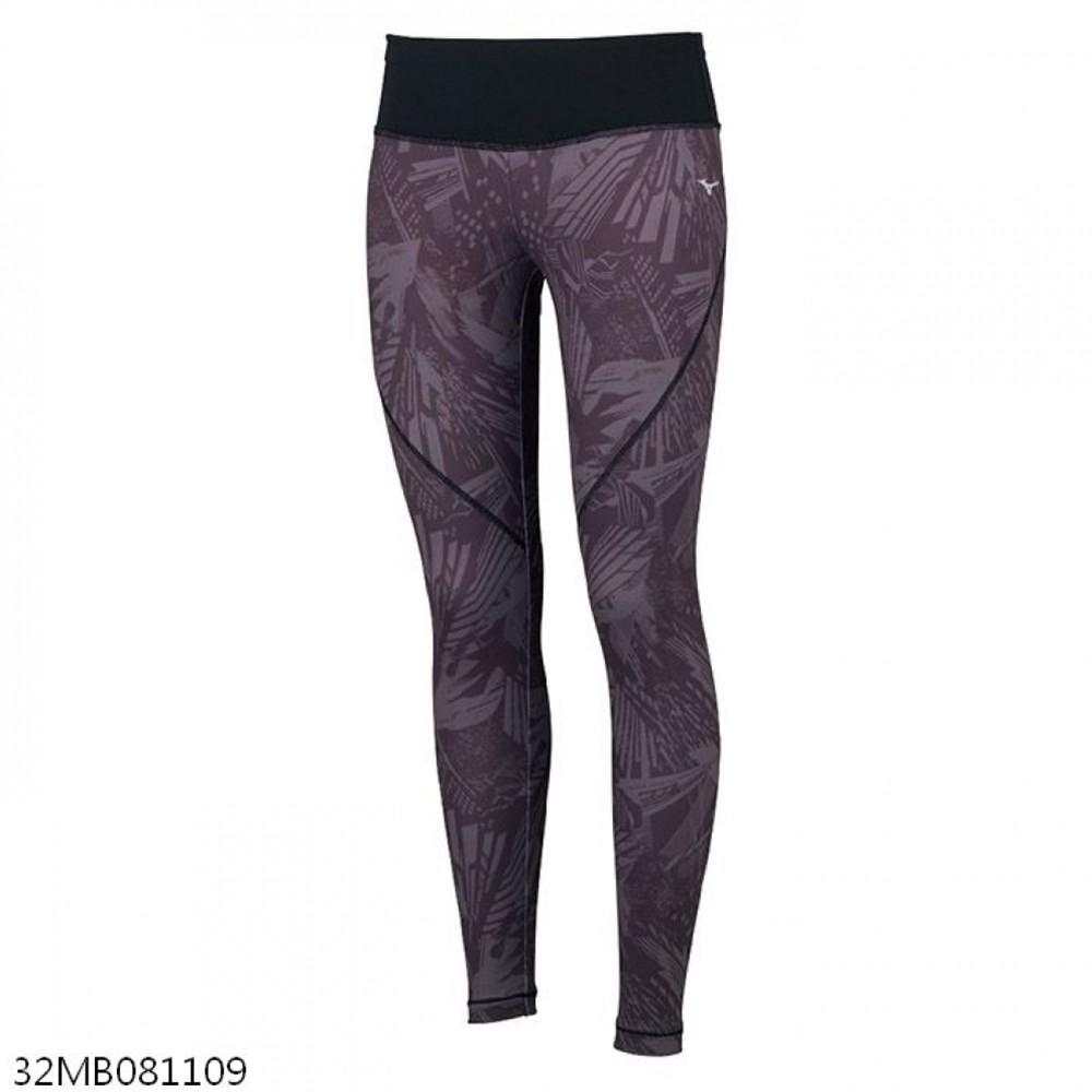 MIZUNO 女裝 長褲 緊身 慢跑 訓練 瑜珈 彈性 黑【運動世界】32MB081108