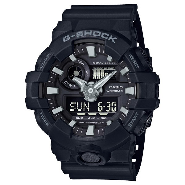 CASIO【卡西歐】G-SHOCK系列 指針/數位電子錶(GA-700-1B) {葳葳的精品}