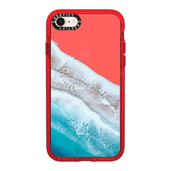 CASETiFY iPhone 8 Impact Case - Bahama Beach Transparent Iphone Case By Ann Upton