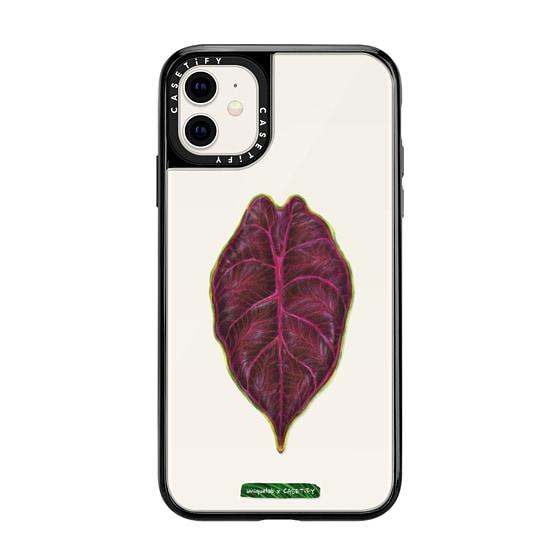 CASETiFY iPhone 11 Grip Case - BOTANICAL PLANTS AZLANII