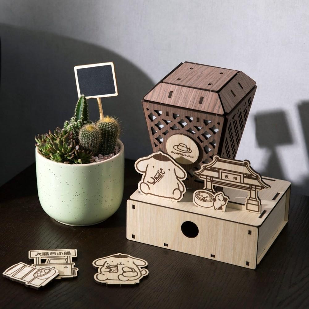 DIY材料包-布丁狗美食趣天燈置物盒