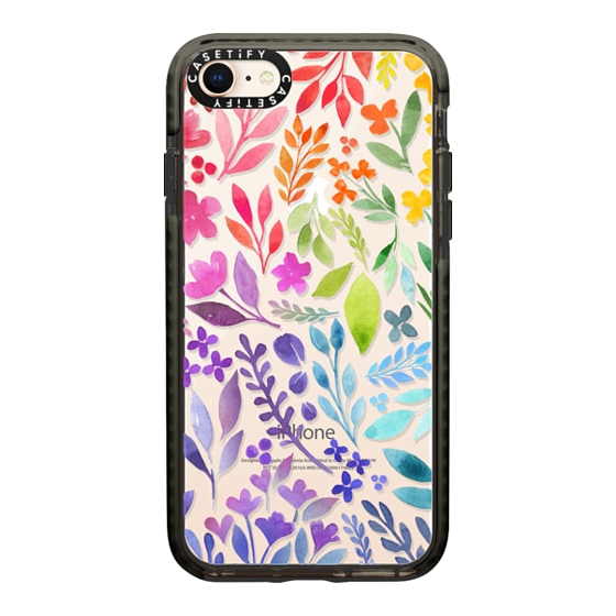 CASETiFY iPhone 8 Impact Case - Floral Rainbow