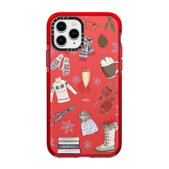 CASETiFY iPhone 11 Pro Impact Case - Après Ski (Fashion Illustration Transparent Phone Case)