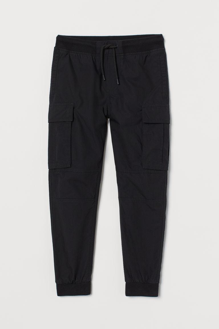 H & M - 工作慢跑褲 - 黑色