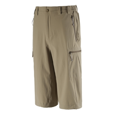 Wildland荒野男高彈性抗UV防潑貼袋七分褲沙丘褐
