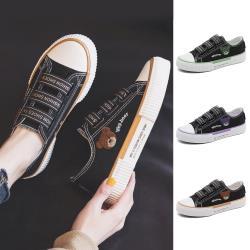 【WS】現+預 小熊刺繡鬆緊帶帆布鞋(帆布鞋/休閒鞋/小白鞋)