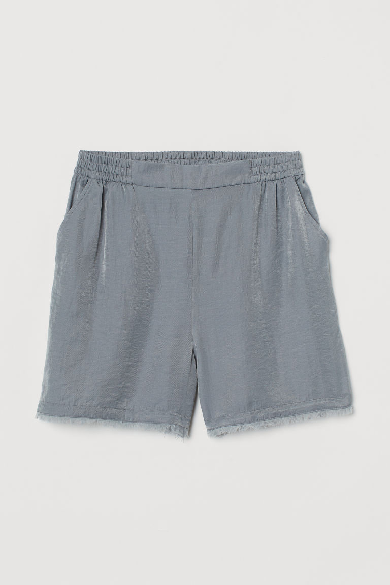 H & M - 萊賽爾混紡短褲 - 灰色