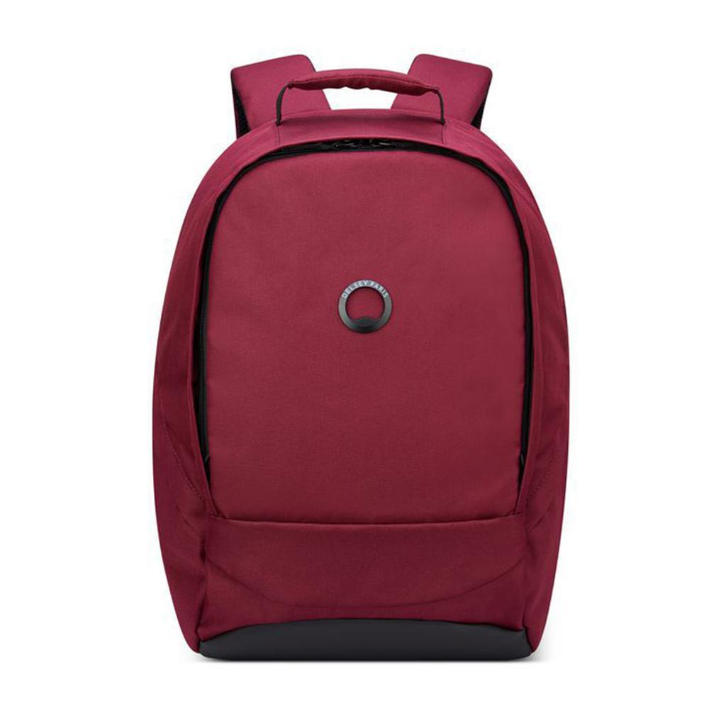 【DELSEY】SECURBAN-13.3吋筆電後背包-酒紅色  00333460304