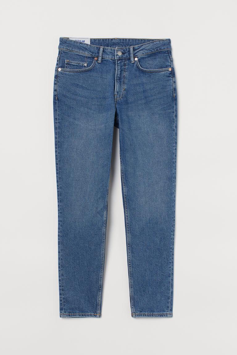 H & M - 中腰錐形牛仔褲 - 藍色