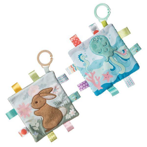MARY MEYER 標籤動物安撫沙沙紙-幾何章魚/小麥兔|安撫巾【麗兒采家】
