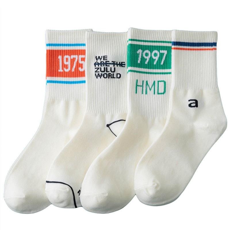 大唐襪業 D262男女潮流網紅ins棉中筒襪子 日系街頭嘻哈復古運動長襪