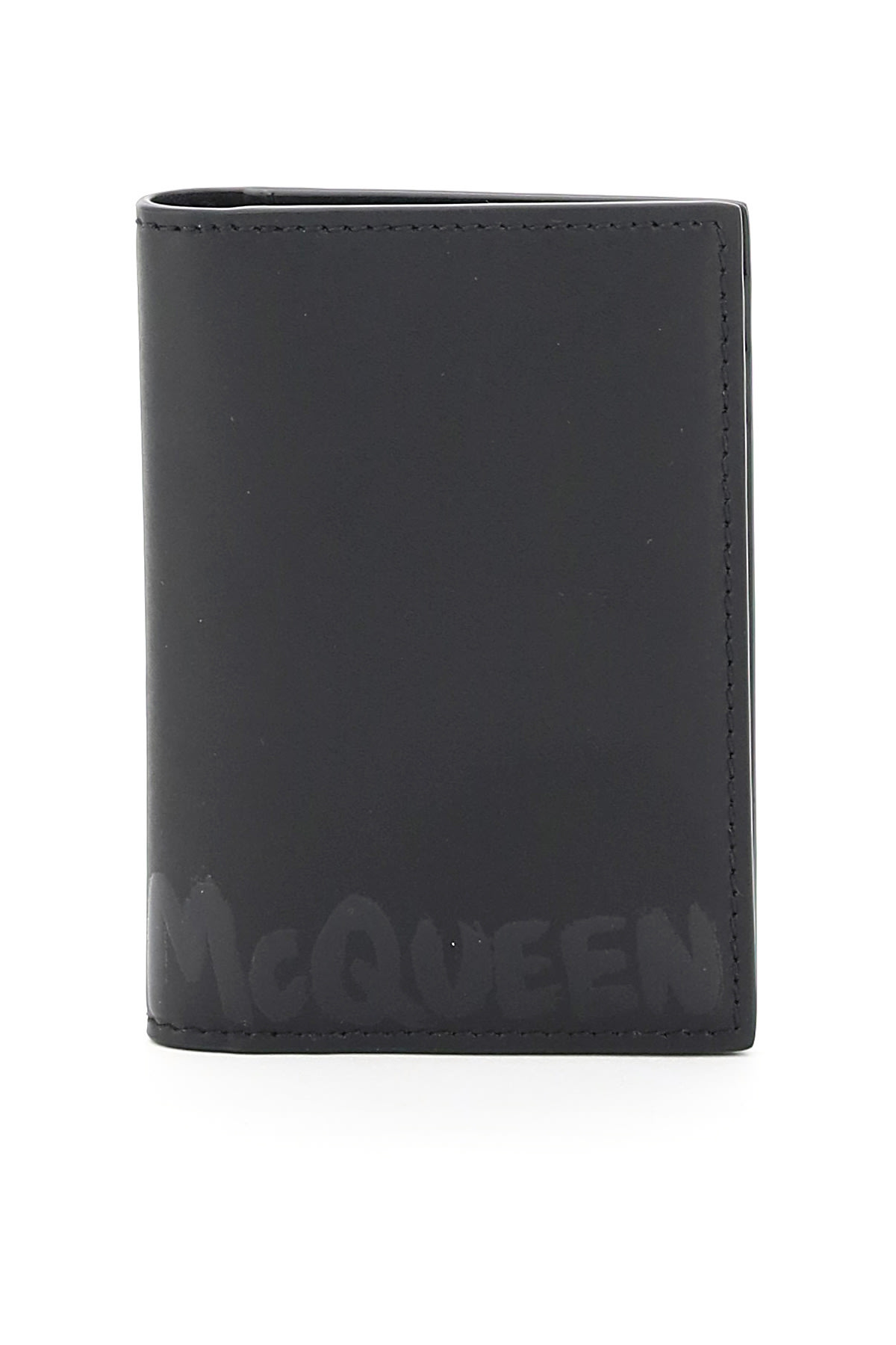 Alexander McQueen Graffiti Logo Bi-fold Card Holder