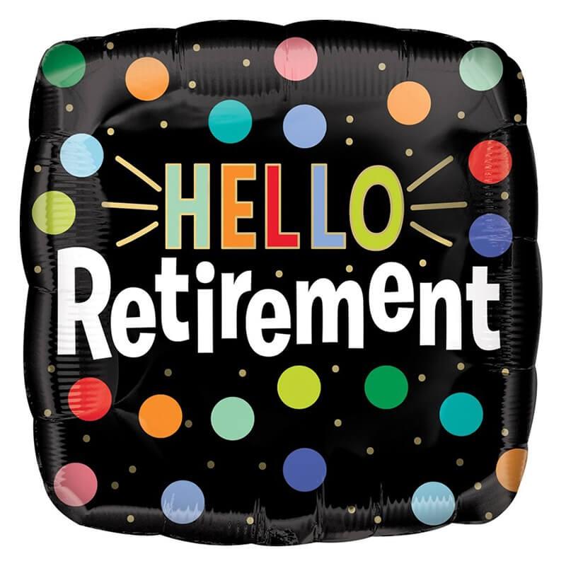 派對城 現貨 【18吋鋁箔氣球(不含氣)-退休快樂】歐美派對 生日氣球 鋁箔氣球  派對佈置 拍攝道具