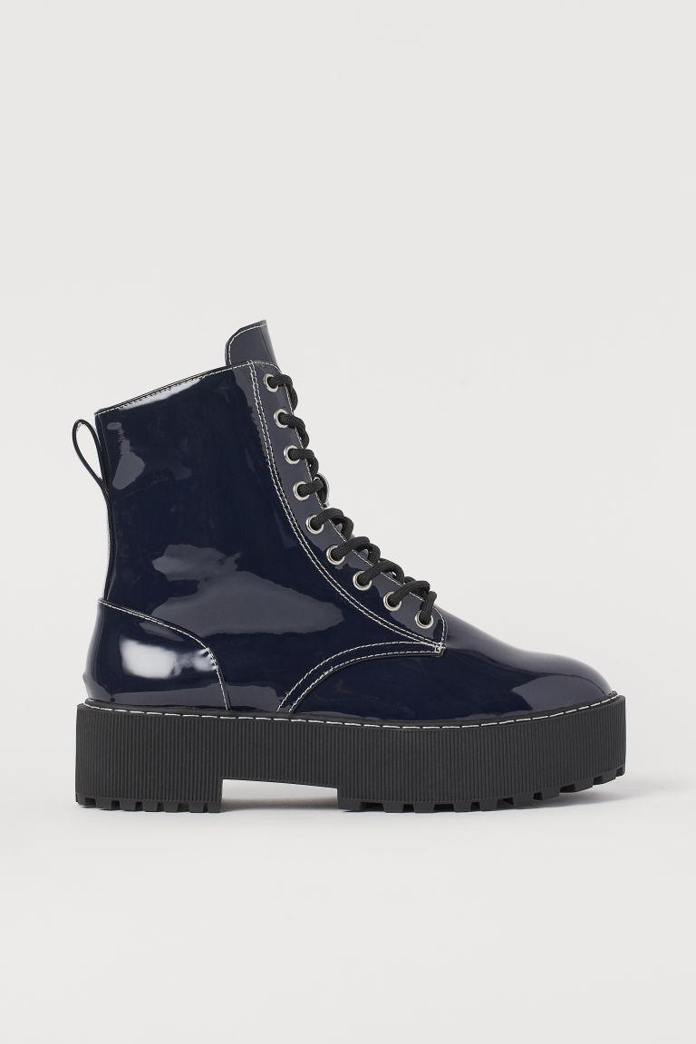 H & M - 厚底靴 - 藍色