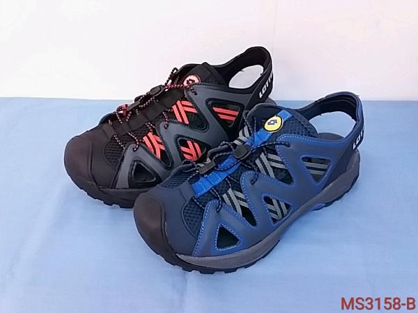 MS3156愛麗絲的最愛 防水必備~ LOTTO輕量織帶運動涼鞋/男款平底涼鞋/平底拖鞋/護趾涼鞋