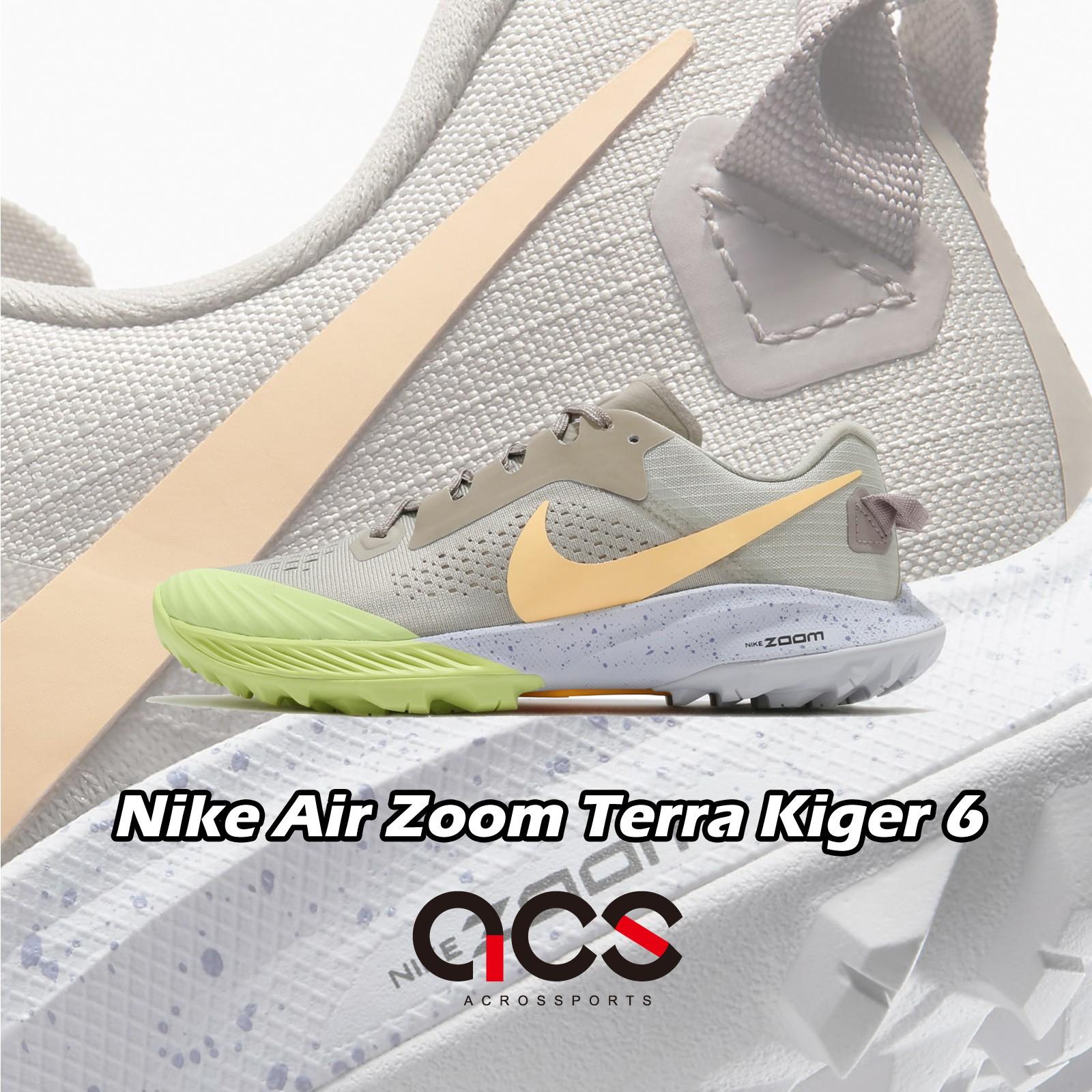 Nike 越野跑鞋 Wmns Air Zoom Terra Kiger 6 灰黃綠 女鞋【ACS】 CJ0220-200