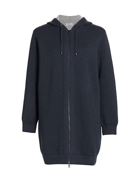 Longline Cardigan Sweatshirt