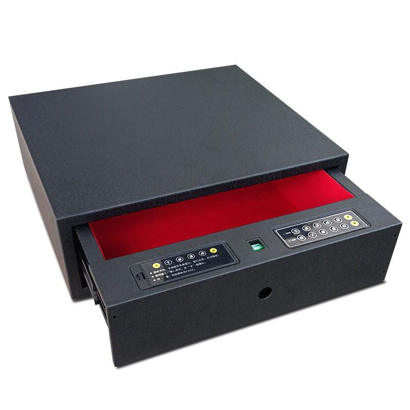 全鋼指紋抽屜式保險箱家用衣柜隱藏式保險柜小型密碼鎖隱形保管柜/可開超取