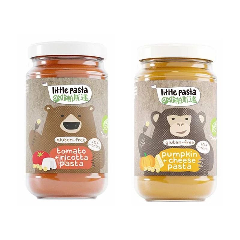 英國 little pasta 小小帕斯達 無麩質 即食義大利麵180g-南瓜起司泥/番茄乳酪泥