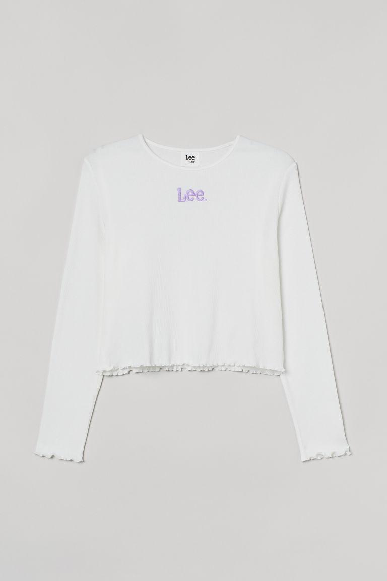 H & M - H & M+ 短版上衣 - 白色