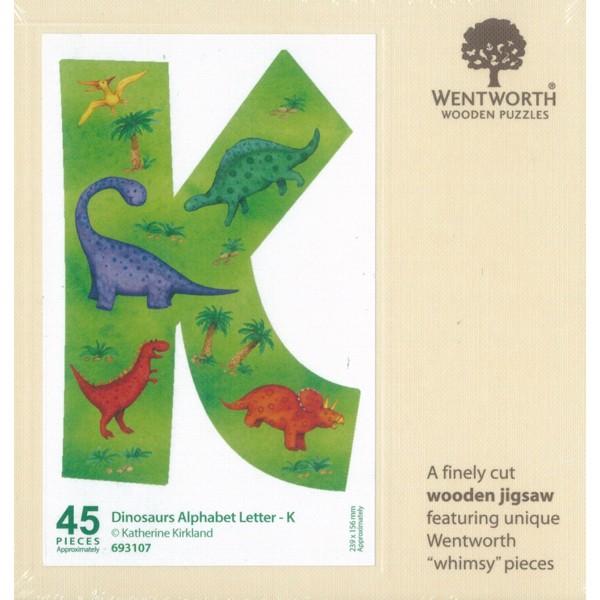 WENTWORTH  恐龍 字母 K  45P  拼圖總動員  木拼  英國拼圖