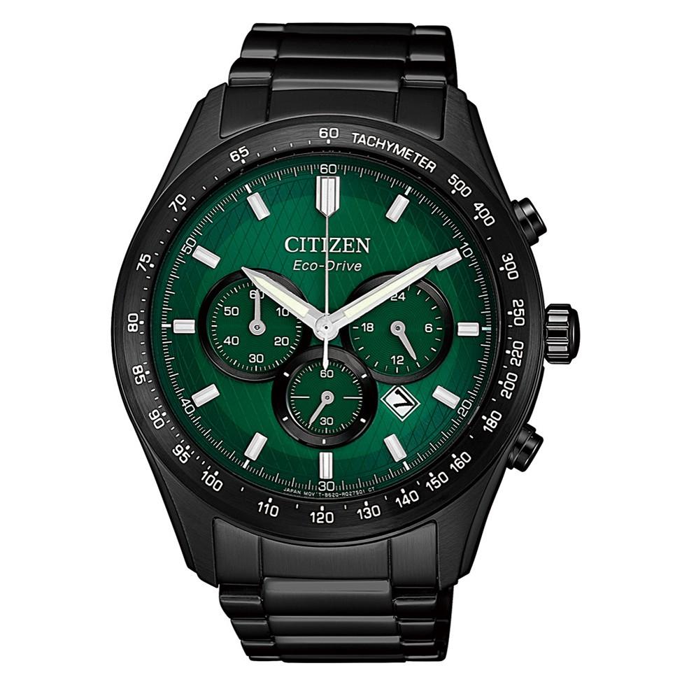CITIZEN星辰 CA4455-86X 三眼計時光動能腕錶