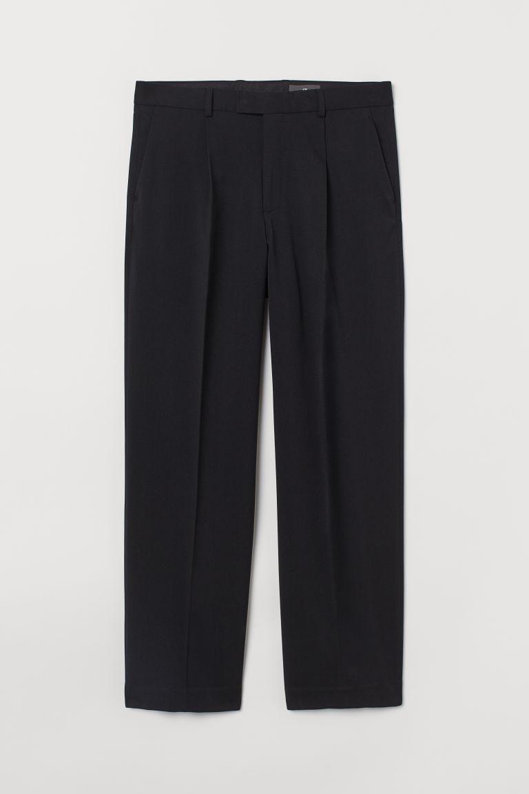 H & M - 直筒西裝褲 - 黑色