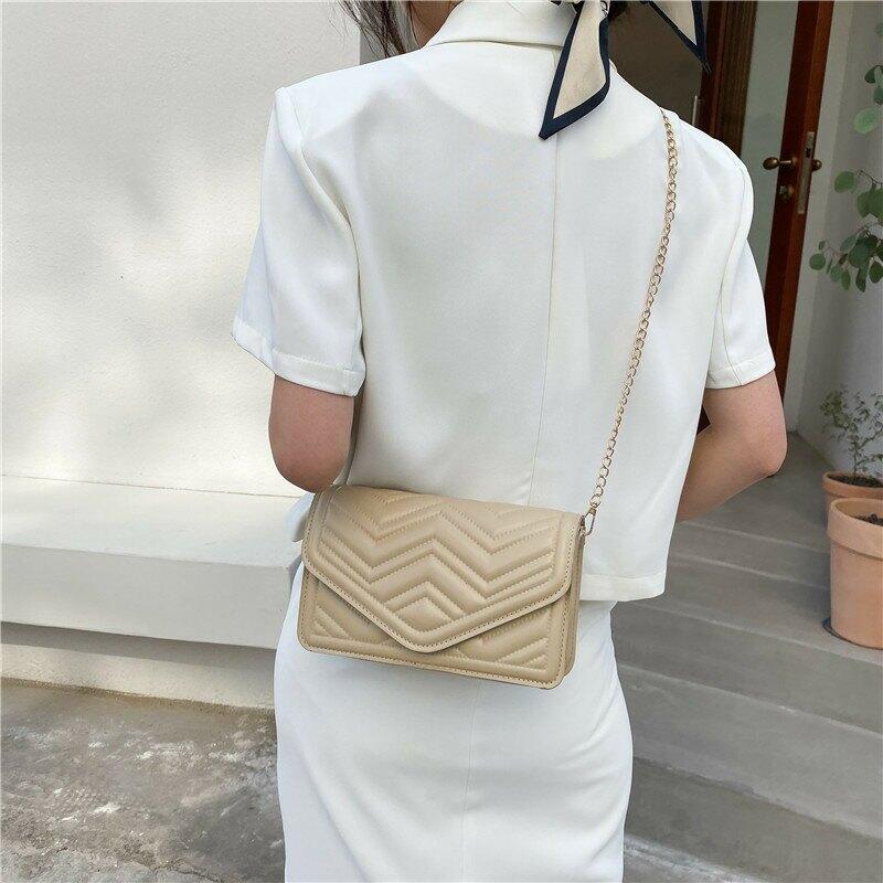 繡線包包洋氣女包2021時尚新款潮網紅韓版斜挎包鏈條單肩包