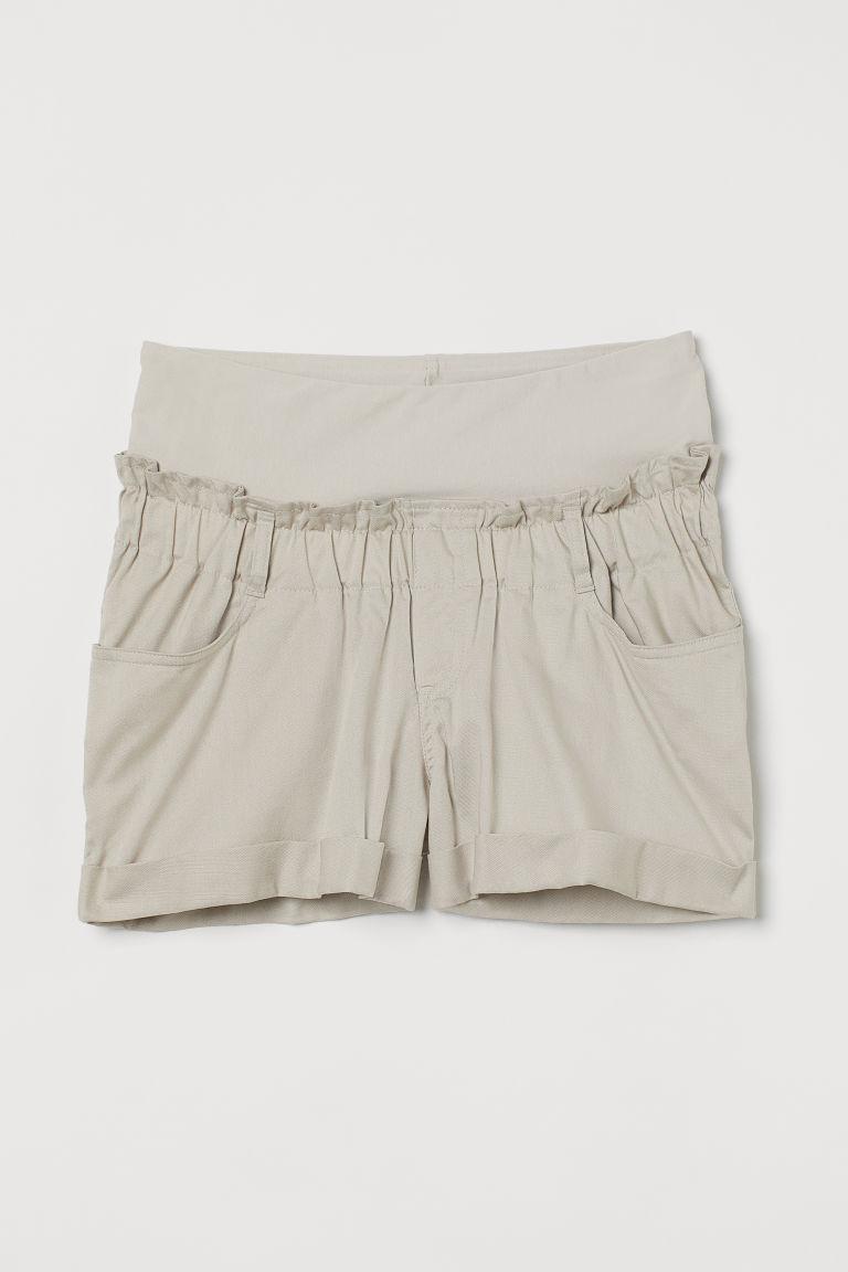 H & M - MAMA 斜紋短褲 - 褐色