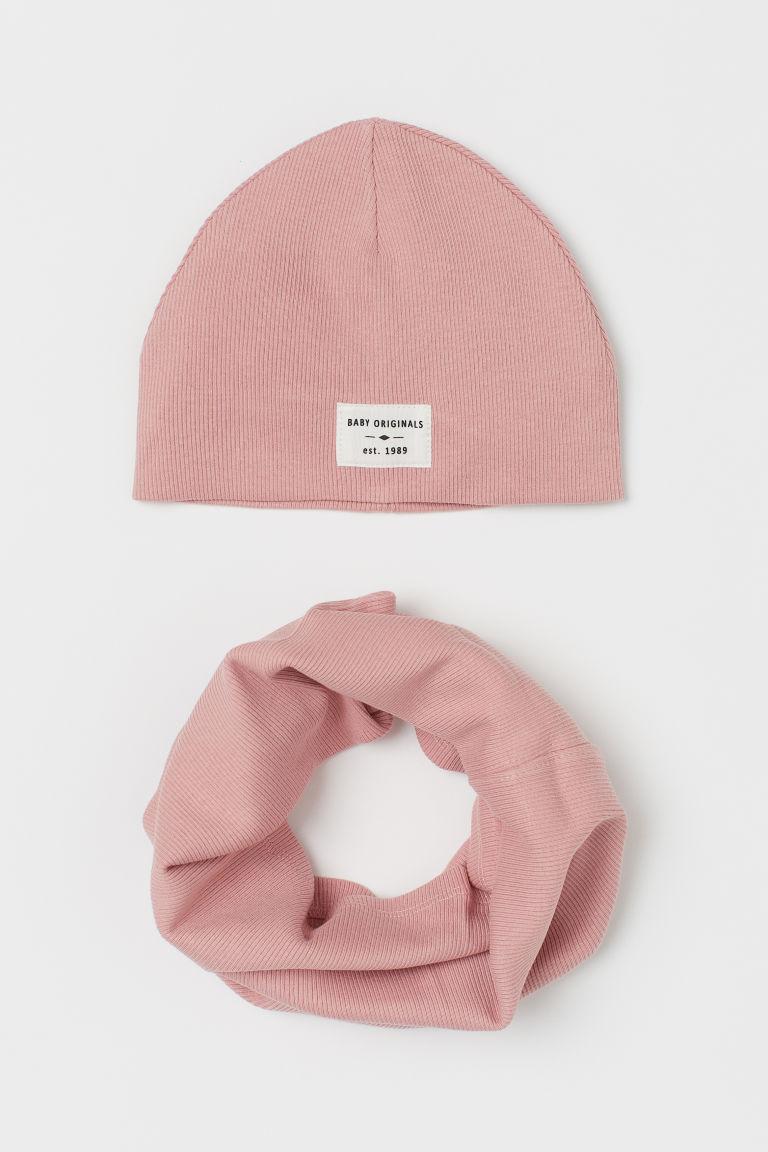 H & M - 平紋2件套組 - 粉紅色